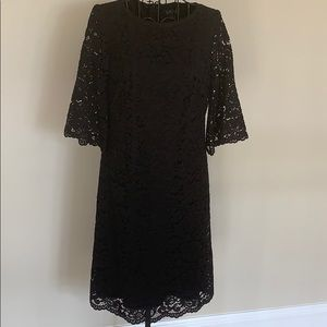 Ralph Lauren black lace dress